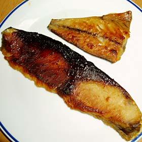 味噌漬けの鯖とブリ