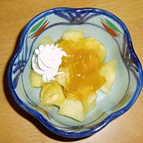 煮リンゴとオレンジゼリー