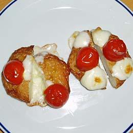さつま揚げ with チーズとトマト