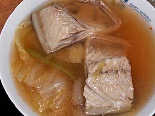 鯖のキムチスープ