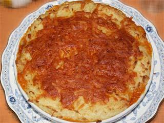 挽肉とマッシュポテトのグラタン