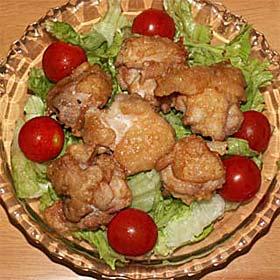 鶏の唐揚げを南蛮酢で
