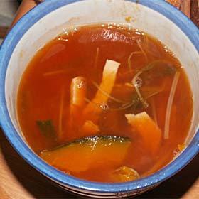 カボチャのトマトスープ