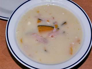 カボチャのホワイトスープ