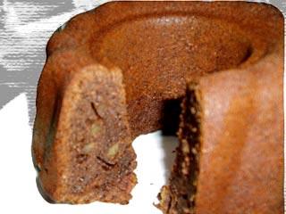 クグロフ型で焼いたチョコレートケーキ