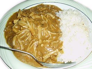 ラム肉とエノキのカレー