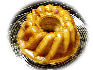 クグロフ型で焼いたシフォンケーキ